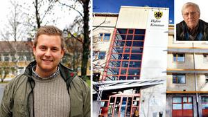 Daniel Johansson (S, stora bilden) säger i en tidningsintervju att Moderaterna i Hofors varken är kloka eller smarta. Det här har fått Alf Persson(M, lilla bilden) att kräva en offentlig ursäkt.