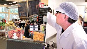 Bilden är ett montage. Till vänster: Redfellas i Igor. Till höger: arkivbild från en livsmedelsinspektion. Foto: Yngve Fredriksson/Kenneth Hudd