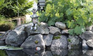 Fiskargubben av sten var en kul detalj.