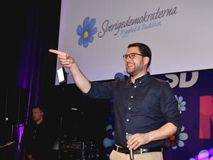 Jimme Åkesson kunde skratta hela vägen till EU-valurnan.