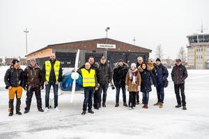 Flera representanter i projektet besökte flygplatsen i Sveg på tisdagen, bland annat från Röros, som också är med i Green Flyway.