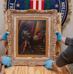Den stulna tavlan. Foto: TT/AFP