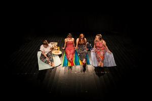 Från vänster: Agnes Browall, Idun Olars, Elin Munters och Emma Hedlund.