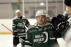 Sala Hockeys Anders Romegård gjorde tre mål mot Solna.