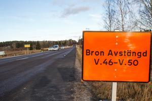 Bron längs Sannavägen syns inte så väl, men vägen stängs av under tiden en ny bro ska byggas.