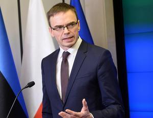 Estlands utrikesminister Sven Mikser. Foto AP.