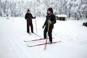 Jörgen Friberg och sambon Kristina Gustavsson från Linköping åkte till Sörskog efter att ha tittat på spårkartan.