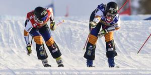 Sandra Näslund till vänster. (Bilden är från en annan tävling) Foto: Pontus Lundahl/TT