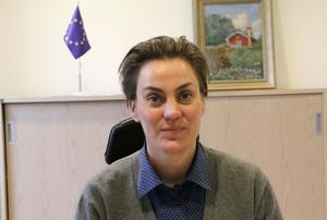 Kommunstyrelsens ordförande, Caroline Dieker (M).