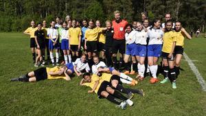 Elitdomaren Glenn Nyberg, Borlänge, ställde upp när flicklagen inte fick tag i en domare.