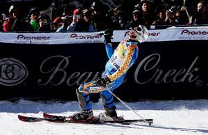 3 december 2006 tog André Myhrer sin första seger i världcupen i Beaver Creek, USA. Foto: Tor Richardsen