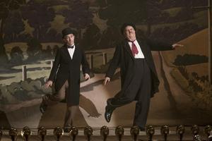 Steve Coogan och John C Reilly glänser i sina skildringar av komikerna Helan och Halvan. Pressbild. Foto: Noble entertainment