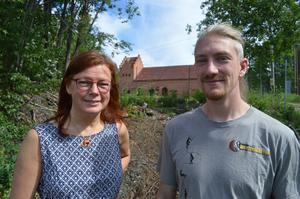 Ulrika Wiborgh på Sensus utvecklar kulturprogram för Äventyrsgruvan. Mattias Bengtsson är guideansvarig där.