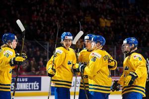 Juniorkronorna ska utmana om guldet i Buffalo under jul. och nyårshelgerna. Bild: Joel Marklund/Bildbyrån