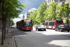 SL-bussar på Nygatan.