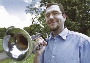 Jazzmusikern och trumpetaren Mårten Lundgren fick LT:s kulturpris Eklövet 2001. Arkivfoto: Paola N Andersson