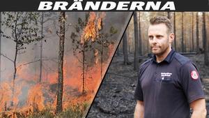 Hans Nornholm var tillbaka som operativ chef vid skogsbränderna i Ljusdal i helgen.