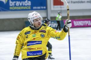 Marcus Wikman gjorde Brobergs tredje mål en halvtimme in på första halvlek.