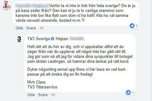 Strax efter att den kritiska kommentaren ramlade in på Facebook sökte produktionsbolaget singelmammor från Sundsvall.