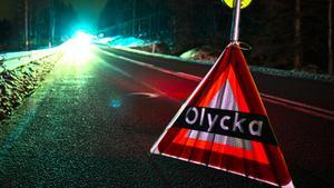 JUST NU: Larm om trafikolycka på E4 norr om Örnsköldsvik