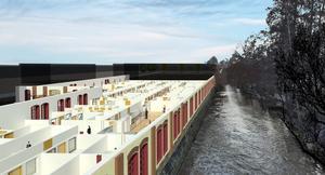 KMV i Köping som det är tänkt att det ska bli med kontor för Arbetsförmedlingen och flera andra myndigheter när ombyggnationen är färdig.