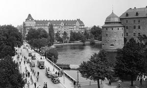 Vy mot centralpalatset, 1930-tal. Fotograf:Walfrid Carlsson