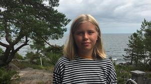 """Tea Kylberg följde hela händelseförloppet med sin mamma Catarina Kylberg: """"Helikoptern firade upp och ner något, det såg ut som människor"""". Bild: Privat"""