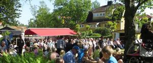 Många besökare kom till nationaldagsfirandet. Foto:  Lena Håkansson