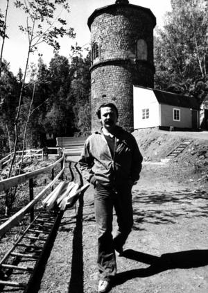 Regissören Arne Andersson i samband med att