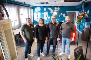 Torget får nya krögare. Från vänster: Magnus Olsson, Angelica Olsson, Martin Olsson och Johakim Andersson.