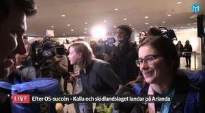 Ebba Andersson tillbaka på svensk mark.