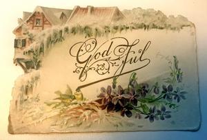 I Maikens samling finns bland annat detta fina julkort från 1896.
