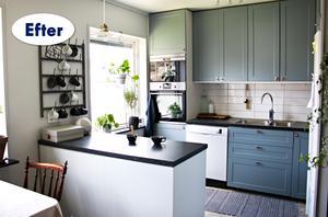 Lite färg och nya beslag förvandlade hela köket för en billig peng.