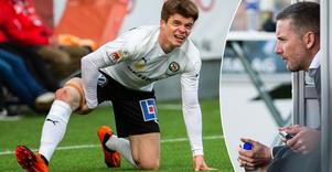 Albin Granlund gick sönder i Finlands EM-kvalmatch mot Bosnien. Ett knä spökar, frågan är fortfarande hur oroade ÖSK-fansen ska vara. Bild: TT/NA