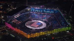 En överblick av  häftiga Olympic Stadium. Bild: TT.