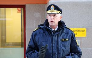 Dan Persson, regionpolischef för polisregion Bergslagen höll ett tal.
