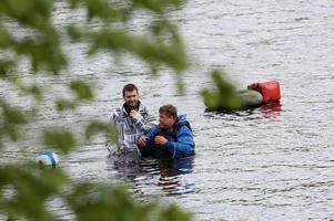Segraren Joel Renberg hoppade i Ljusnan till Morten Blien
