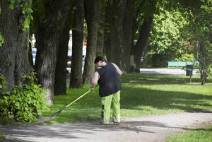 Parkarbetarna riskerar både att trampa i skit och hantera illaluktande växtlighet.