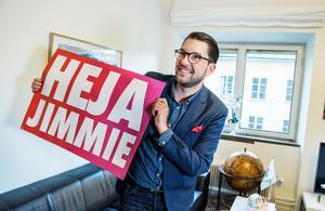 Sverigedemokraternas partiledare Jimmie Åkesson. SD:s styrka har legat i att de bättre än andra partiet lyckats mobilisera väljare kring sin kulturpolitik i sociala medier. Foto: Lars Pehrson / SvD / TT
