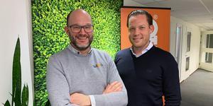 Joakim Lindquist, vd TelliQ och Dan Friberg, vd för Infobric-koncernen.