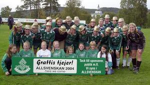 Själevad seriesegrare i division 1 2003 och klubben tog steget upp i allsvenskan! Bild: Mats Berglund