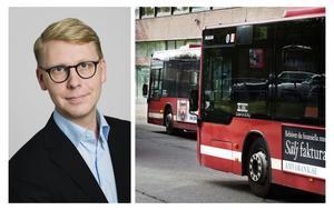Regionrådet Kristoffer Tamsons (M) är ansvarig för kollektivtrafiken i Storstockholm.
