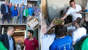 Under onsdagskvällen genomfördes en politisk manifestation för att stötta pizzeria Titanic i Ludvika.