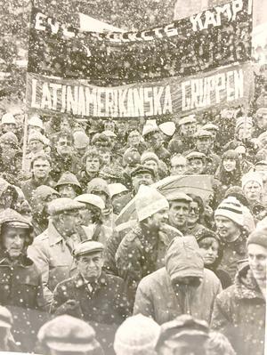 Snö på första maj 1981.