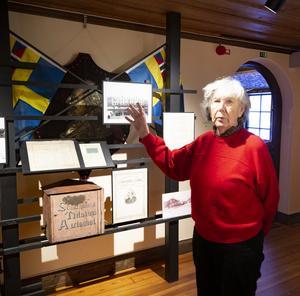 Elisabeth Breig Åsberg berättar om museiföreningens planer inför 400-års  jubileet.