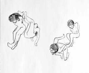Några av Emelie Markgrens kroppsformationer.