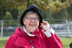 Birgitta Önnerstedt besöker lördagens evenemang i Vänortsparken för att lära sig mer om kanalens historia.