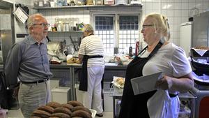 Det är en hektisk period på Kungsudden just nu. Hembygdsföreningens ordförande Thomas Göransson och restaurangens ägare Louise Biloff är glada att inbrottet inte ställde till större skada.