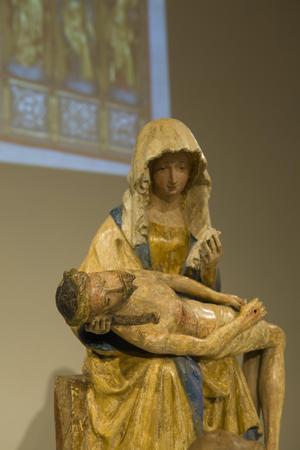 En pietà (den sörjande Maria med Kristus i knät stals från Evertsbergs kapell 2014.Foto: Åke Paulsson