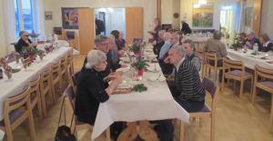 PRO Ytterhogdal arrangerade lilla julafton med cirka 30 medlemmar på plats i församlingshemmet. Foto: Solveig Haugen